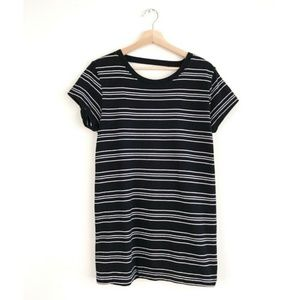 Truly Madly Deeply Striped Backless T Shirt